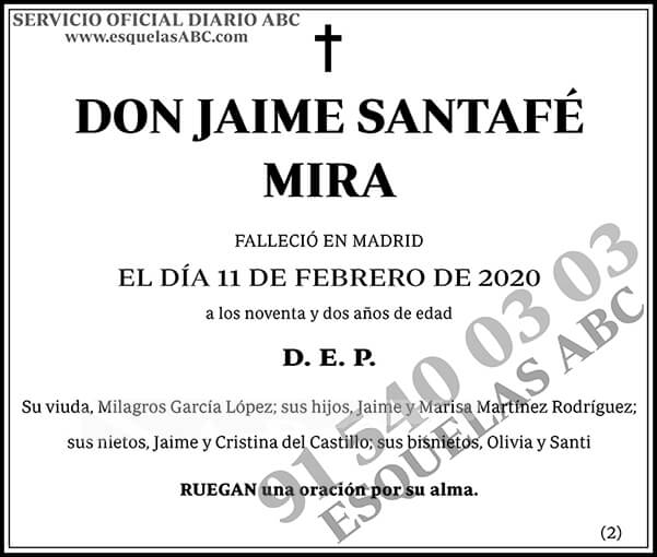 Jaime Santafé Mira