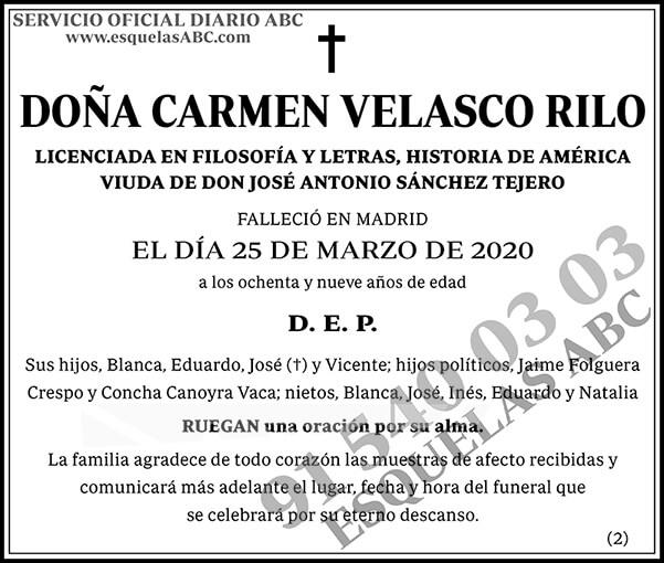 Carmen Velasco Rilo