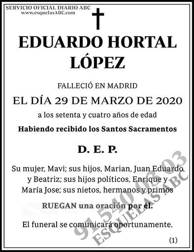 Eduardo Hortal López