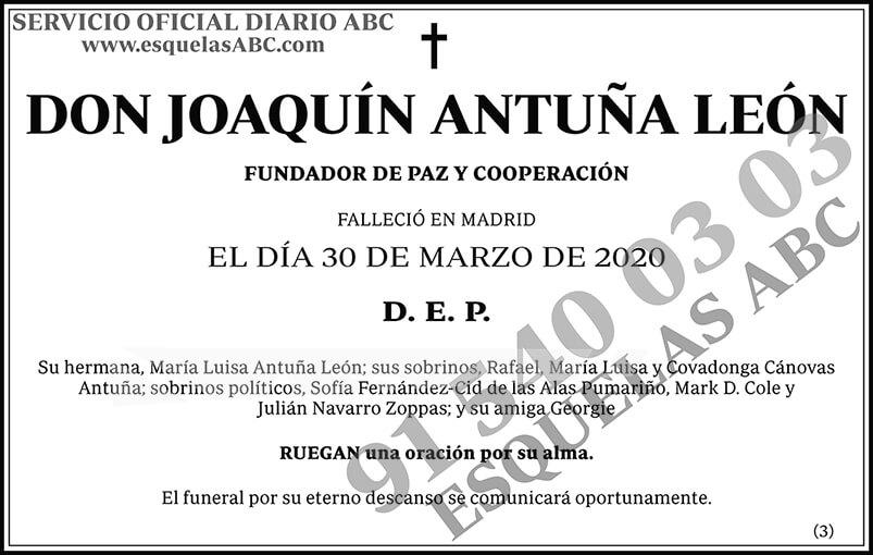 Joaquín Antuña León
