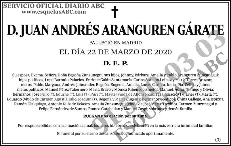 Juan Andrés Aranguren Gárate