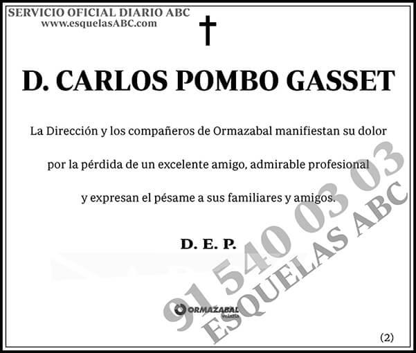 Carlos Pombo Gasset
