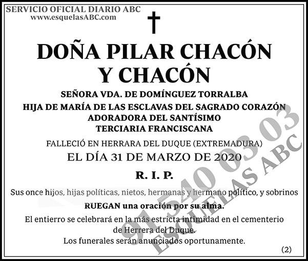 Pilar Chacón y Chacón