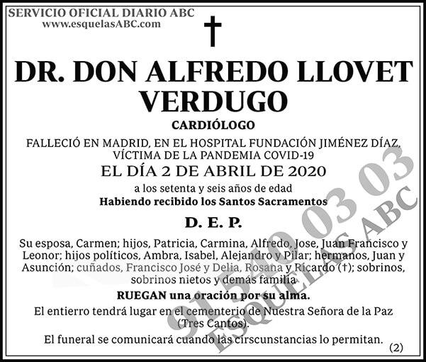 Alfredo Llovet Verdugo
