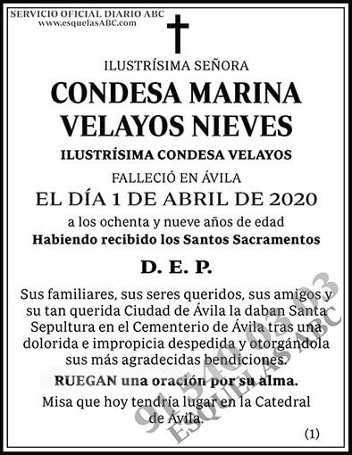 Condesa Marina Velayos Nieves
