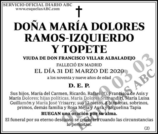 María Dolores Ramos-Izquierdo y Topete