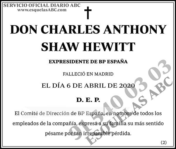 Charles Anthony Shaw Hewitt