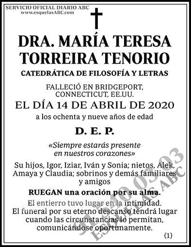 María Teresa Torreira Tenorio