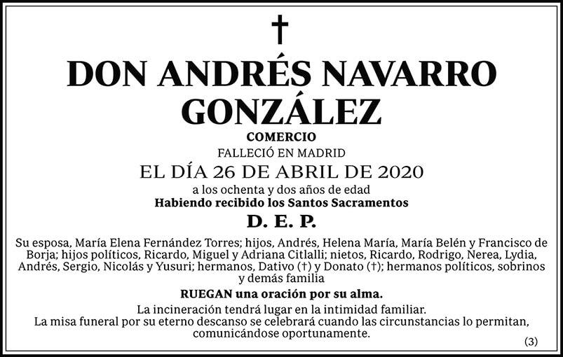 Andrés Navarro González
