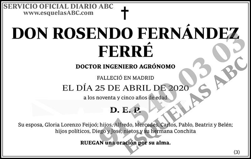 Rosendo Fernández Ferré