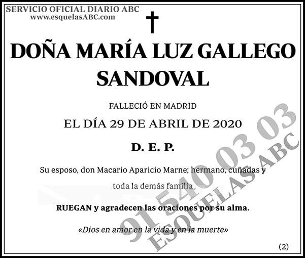 María Luz Gallego Sandoval