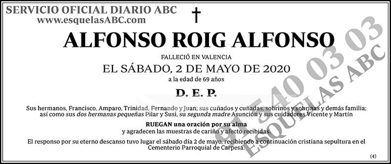 Alfonso Roig Alfonso