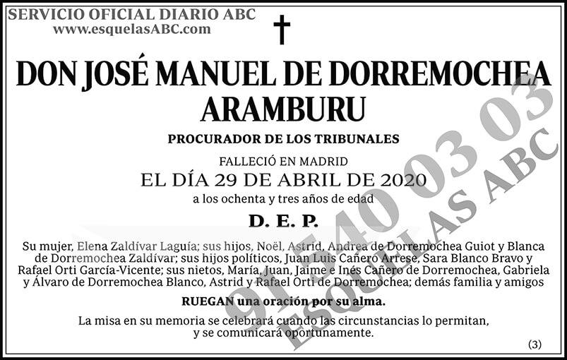 José Manuel de Dorremochea Aramburu