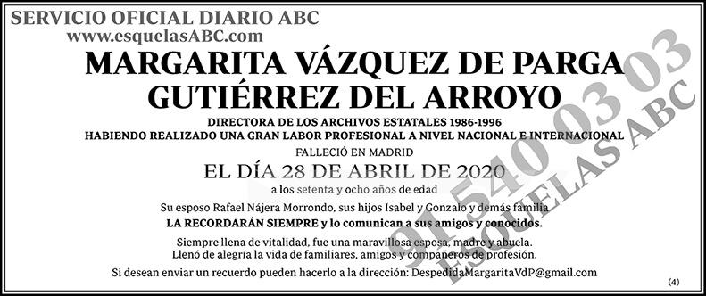 Margarita Vázquez de Parga Gutiérrez del Arroyo