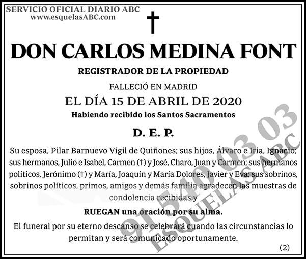 Carlos Medina Font
