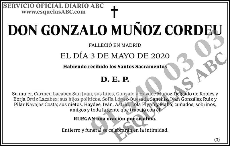 Gonzalo Muñoz Cordeu