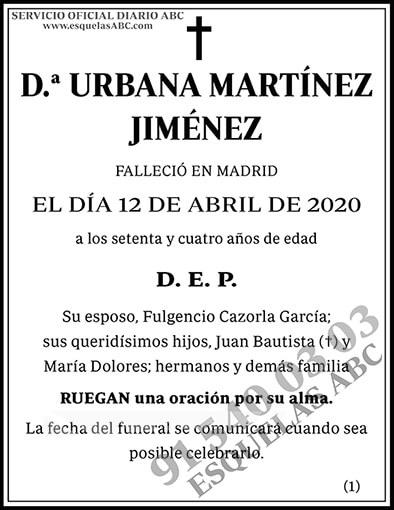 Urbana Martínez Jiménez