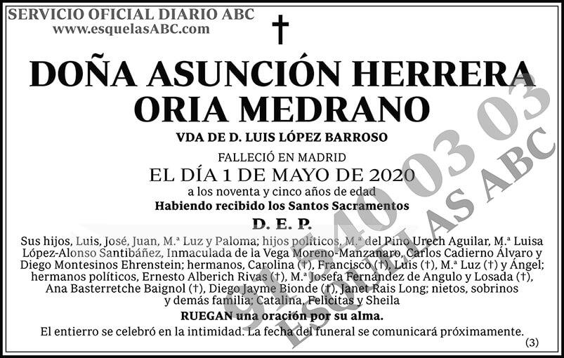 Asunción Herrera Oria Medrano