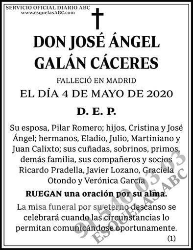 José Ángel Galán Cáceres