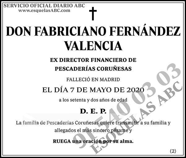 Fabriciano Fernández Valencia