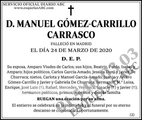 Manuel Gómez-Carrillo Carrasco