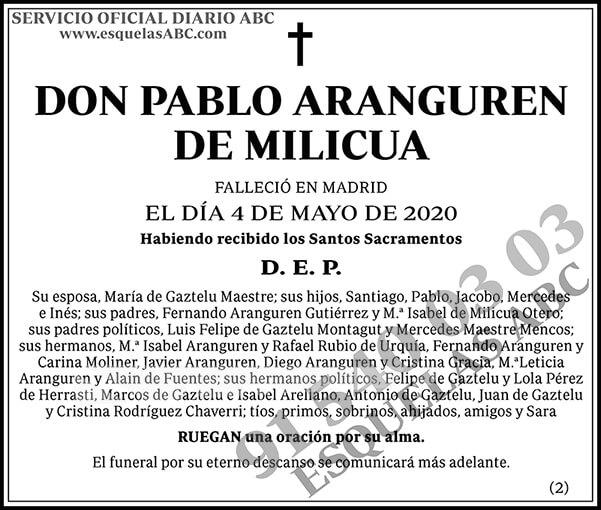 Pablo Aranguren de Milicua