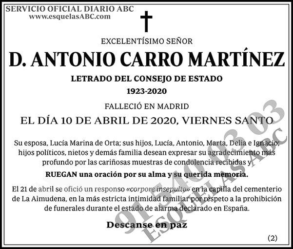 Antonio Carro Martínez