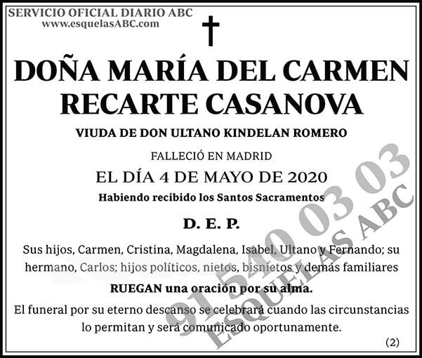 María del Carmen Recarte Casanova