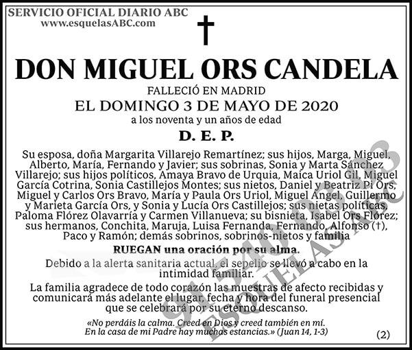 Miguel Ors Candela