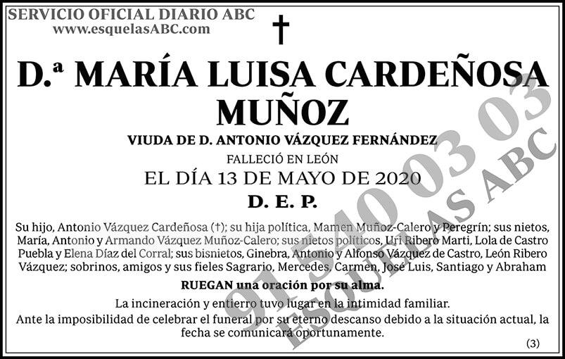 María Luisa Cardeñosa Muñoz