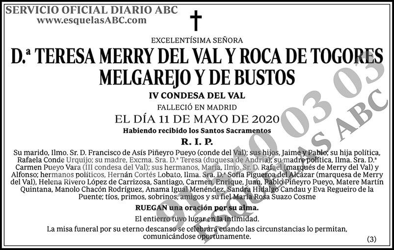 Teresa Merry del Val y Roca de Togores Melgarejo y de Bustos