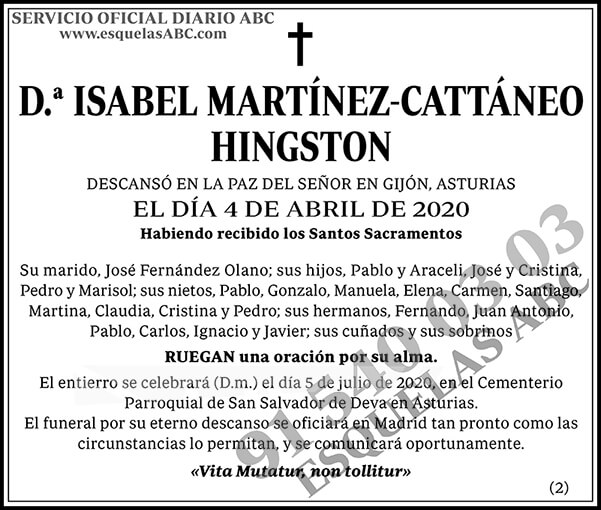 Isabel Martínez-Cattáneo Hingston