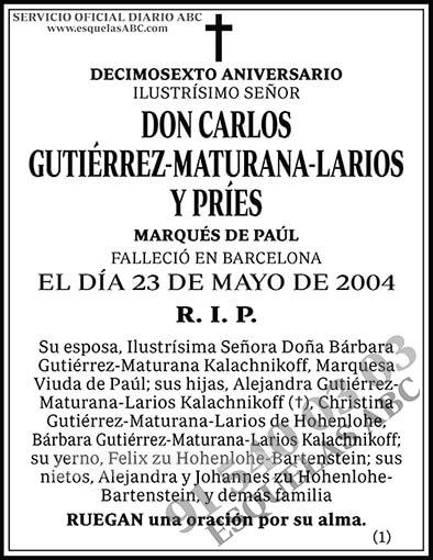 Carlos Gutiérrez-Maturana-Larios y Príes