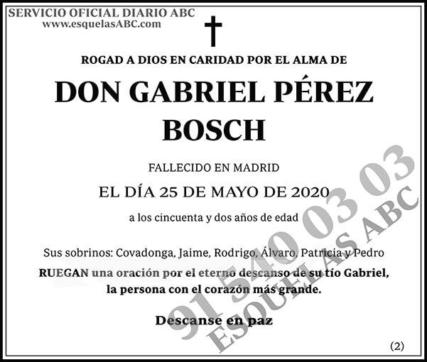 Gabriel Pérez Bosch