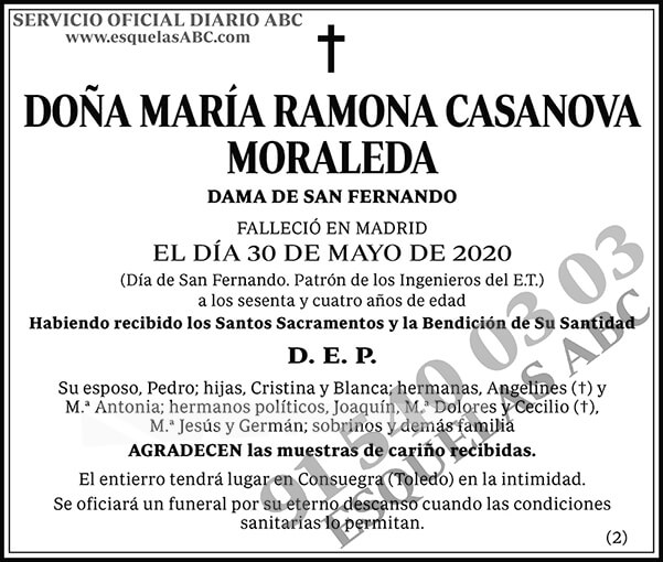 María Ramona Casanova Moraleda