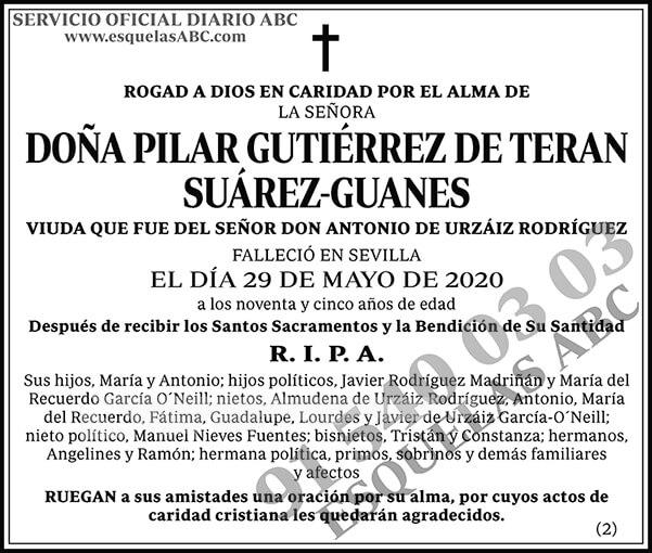 Pilar Gutiérrez de Teran Suárez-Guanes