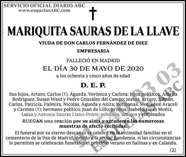 Mariquita Sauras de la Llave