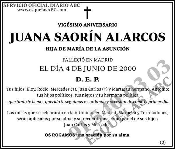 Juana Saorín Alarcos