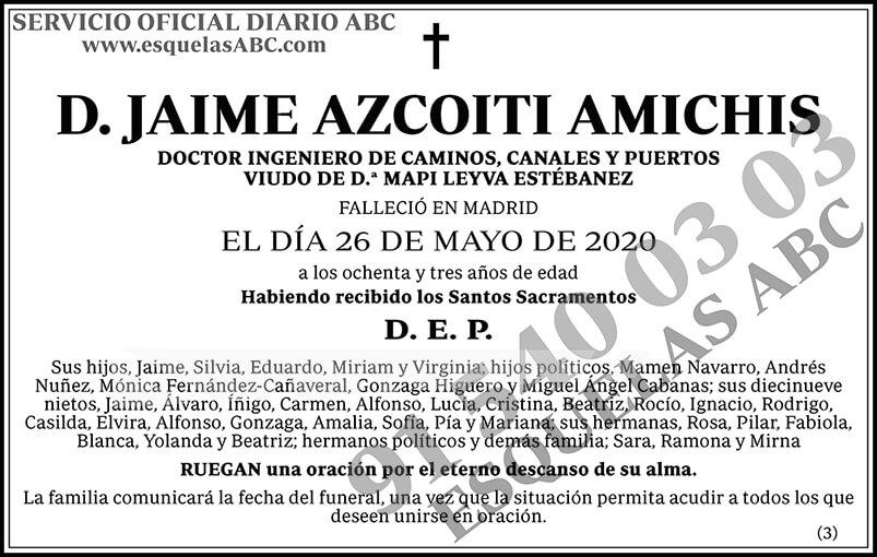 Jaime Azcoiti Amichis
