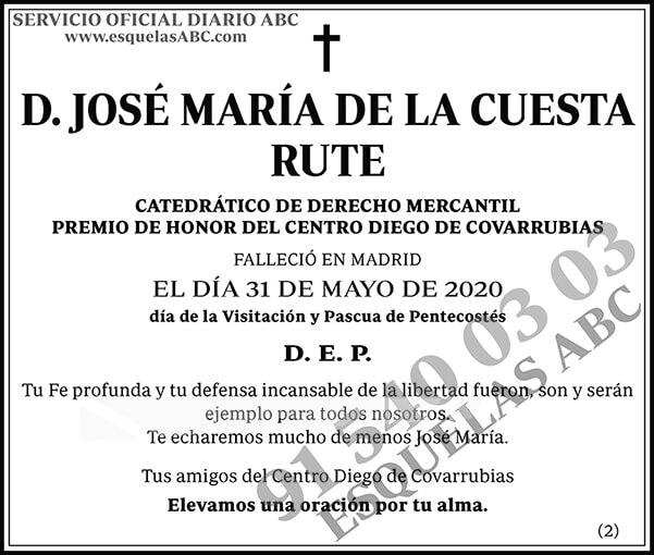 José María de la Cuesta Rute