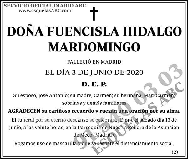 Fuencisla Hidalgo Mardomingo