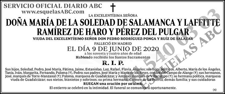 María de la Soledad de Salamanca y Laffitte Ramírez de Haro y Pérez del Pulgar