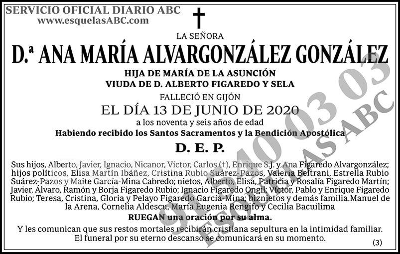 Ana María Alvargonzález González