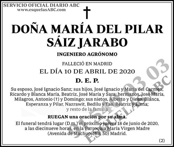 María del Pilar Sáiz Jarabo
