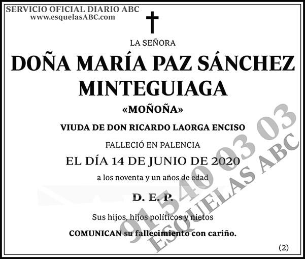 María Paz Sánchez Minteguiaga