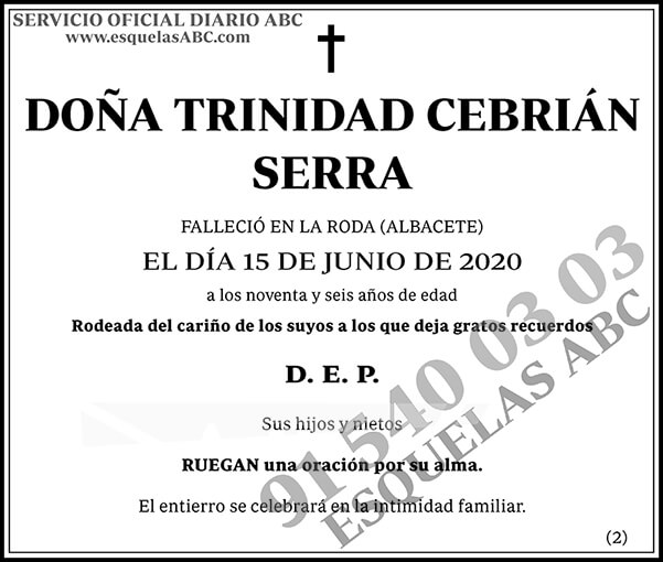 Trinidad Cebrián Serra