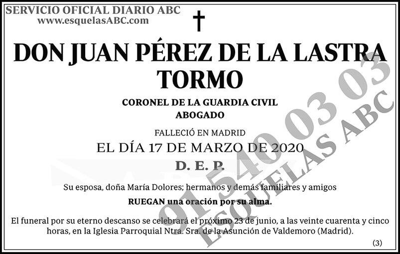 Juan Pérez de la Lastra Tormo