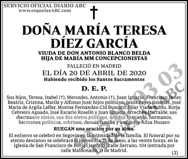 María Teresa Díez García