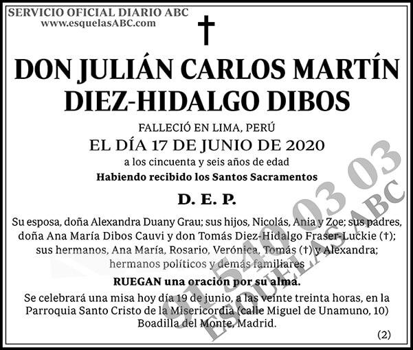 Julián Carlos Martín Diez-Hidalgo Dibos