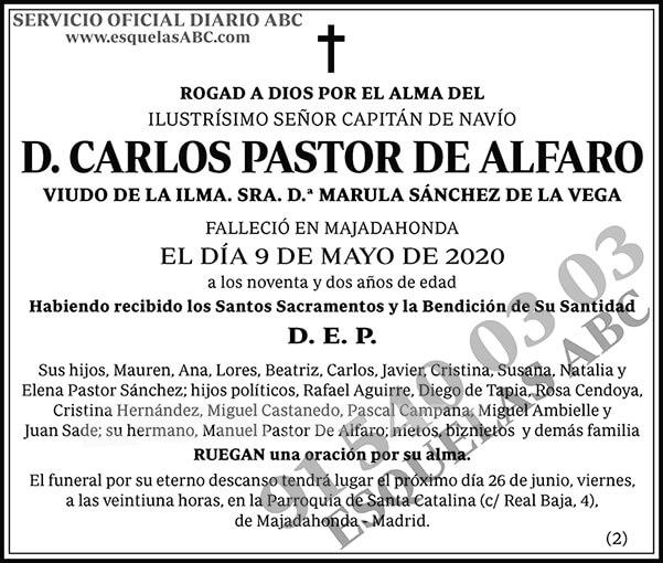 Carlos Pastor de Alfaro